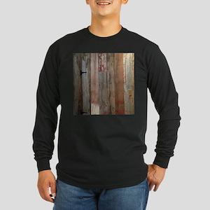 rustic western barn wood Long Sleeve T-Shirt