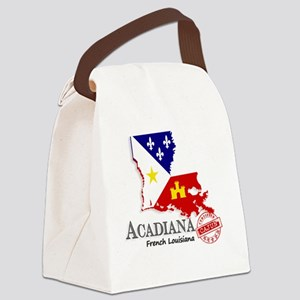Acadiana French Louisiana Cajun Canvas Lunch Bag