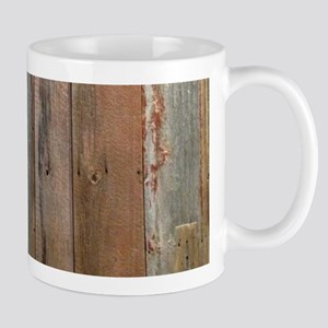 rustic western barn wood Mugs