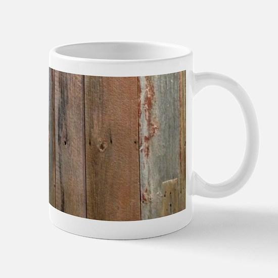 rustic western barn wood Mugs