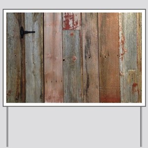 rustic western barn wood Yard Sign