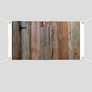 Rustic Western Barn Wood Banner