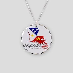 Acadiana French Louisiana Ca Necklace Circle Charm
