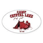 Camp Crystal Lake Oval Sticker