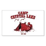 Camp Crystal Lake Rectangle Sticker