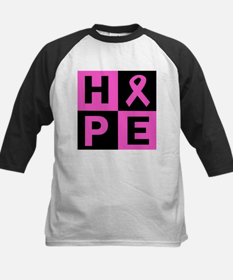 Breast Cancer Awareness hope Kids Baseball Jersey