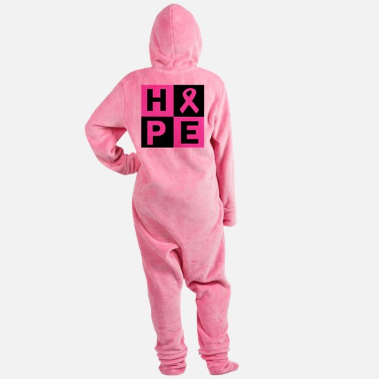 Breast Cancer Awareness hope Footed Pajamas