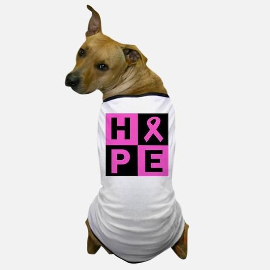 Breast Cancer Awareness hope Dog T-Shirt