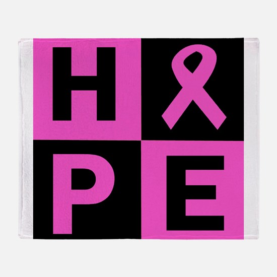 Breast Cancer Awareness hope Throw Blanket