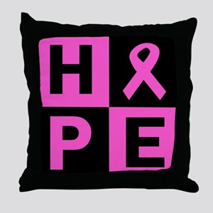 Breast Cancer Awareness hope Throw Pillow