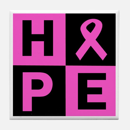Breast Cancer Awareness hope Tile Coaster