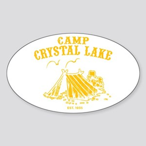 Camp Crystal Lake Oval Sticker