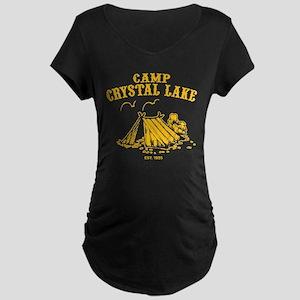 Camp Crystal Lake Maternity Dark T-Shirt