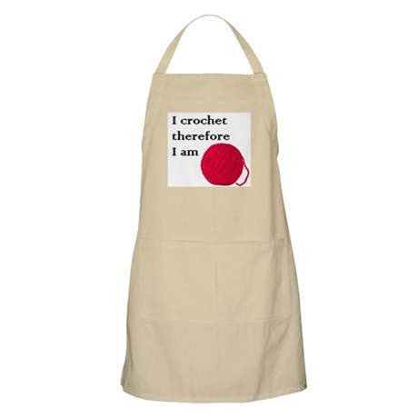 I Crochet Therefore I am BBQ Apron