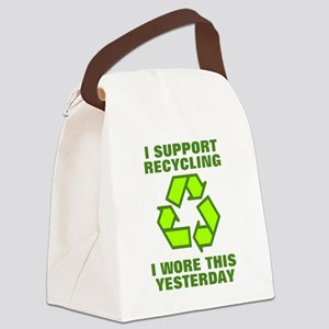 I support recycling I wore this y Canvas Lunch Bag
