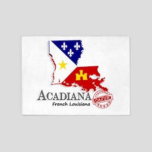 Acadiana French Louisiana Cajun 5'x7'Area Rug