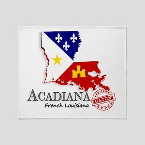 Acadiana French Louisiana Cajun Throw Blanket