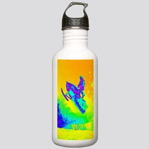 Neon green winter sno Stainless Water Bottle 1.0L