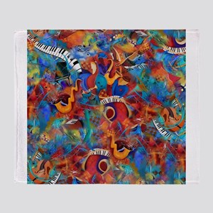 Musician Music Art Print Bath Shower Throw Blanket