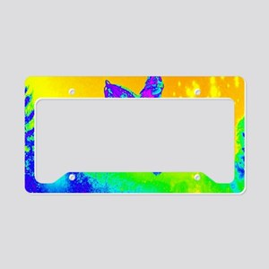 Neon green winter snowmobile License Plate Holder
