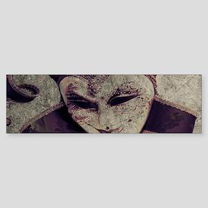 gothic grunge renaissance joker Bumper Sticker