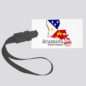 Acadiana French Louisiana Cajun Large Luggage Tag