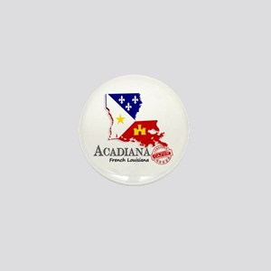 Acadiana French Louisiana Cajun Mini Button