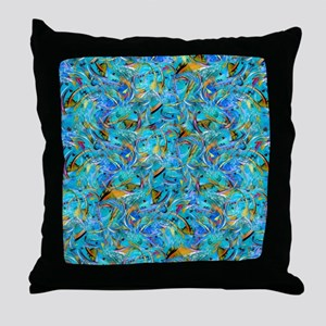 Abstract Fine Art Brightly Colored De Throw Pillow