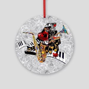 Music Decor Piano Sax Swirl Music A Round Ornament
