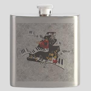 Grand Piano Art Music Theme Art Curvy Piano Flask