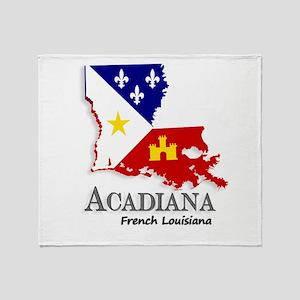 Acadiana LA Throw Blanket