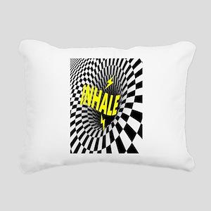 INHALE Rectangular Canvas Pillow
