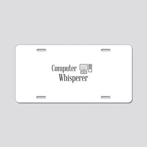 Computer Whisperer Aluminum License Plate