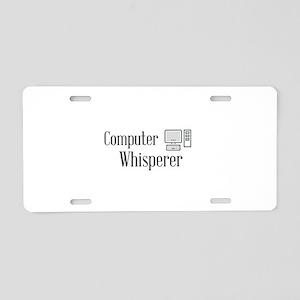 Computer Whisperer Aluminum License Plate