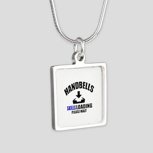 Handbells Skills Loading P Silver Square Necklace