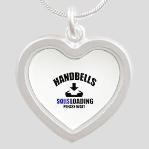 Handbells Skills Loading Ple Silver Heart Necklace