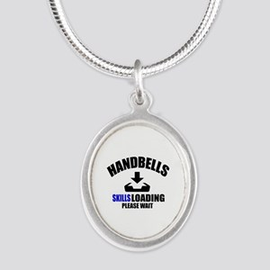 Handbells Skills Loading Plea Silver Oval Necklace