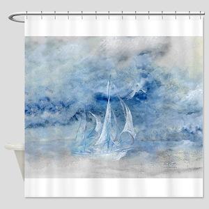 Storm Sail Shower Curtain