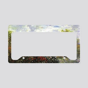 Monet's Garden at Argente License Plate Holder