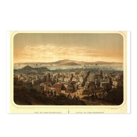 San Francisco, CA 1860 Postcards (Package of 8)