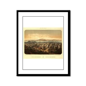 San Francisco, CA 1860 Framed Panel Print