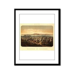 San Francisco, CA 1860 Framed Panel Print