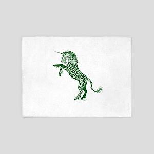 Green Unicorn 5'x7'Area Rug