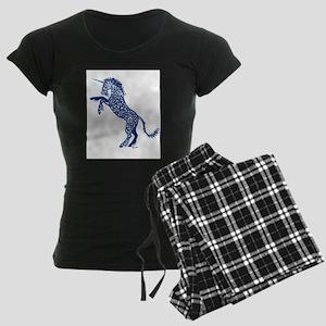 Blue Unicorn Women's Dark Pajamas