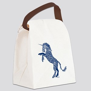 Blue Unicorn Canvas Lunch Bag