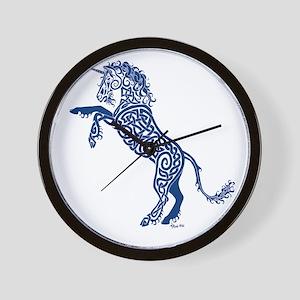 Blue Unicorn Wall Clock