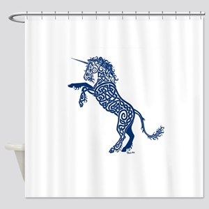 Blue Unicorn Shower Curtain