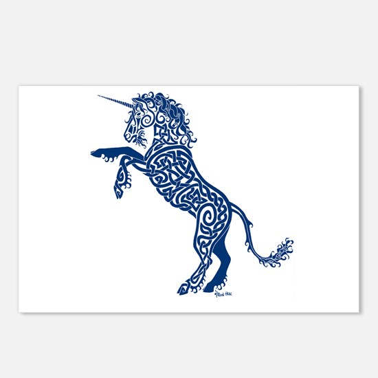 Blue Unicorn Postcards (Package of 8)