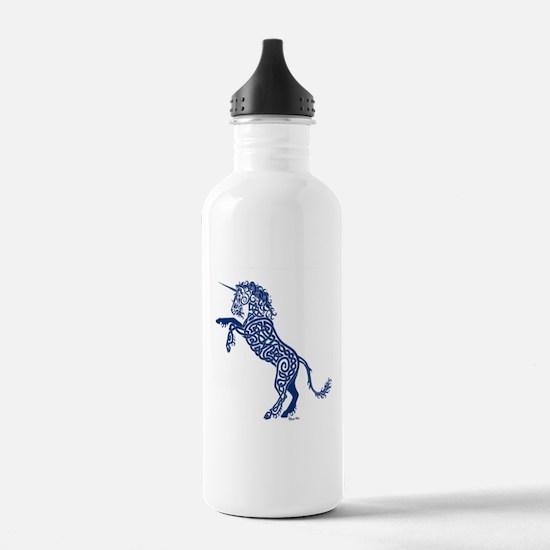 Blue Unicorn Water Bottle
