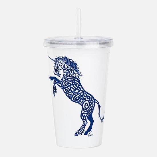 Blue Unicorn Acrylic Double-wall Tumbler